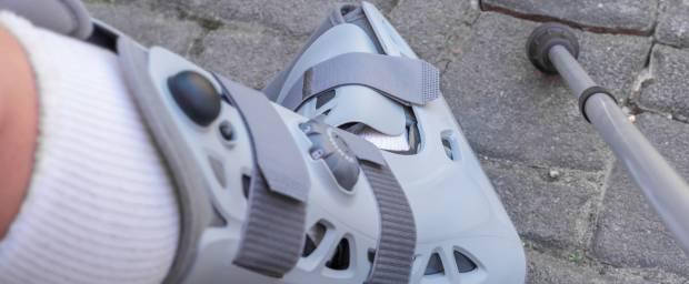 Orthese zum Ruhigstellen des Fußes