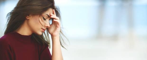 Frau leidet unter Stress