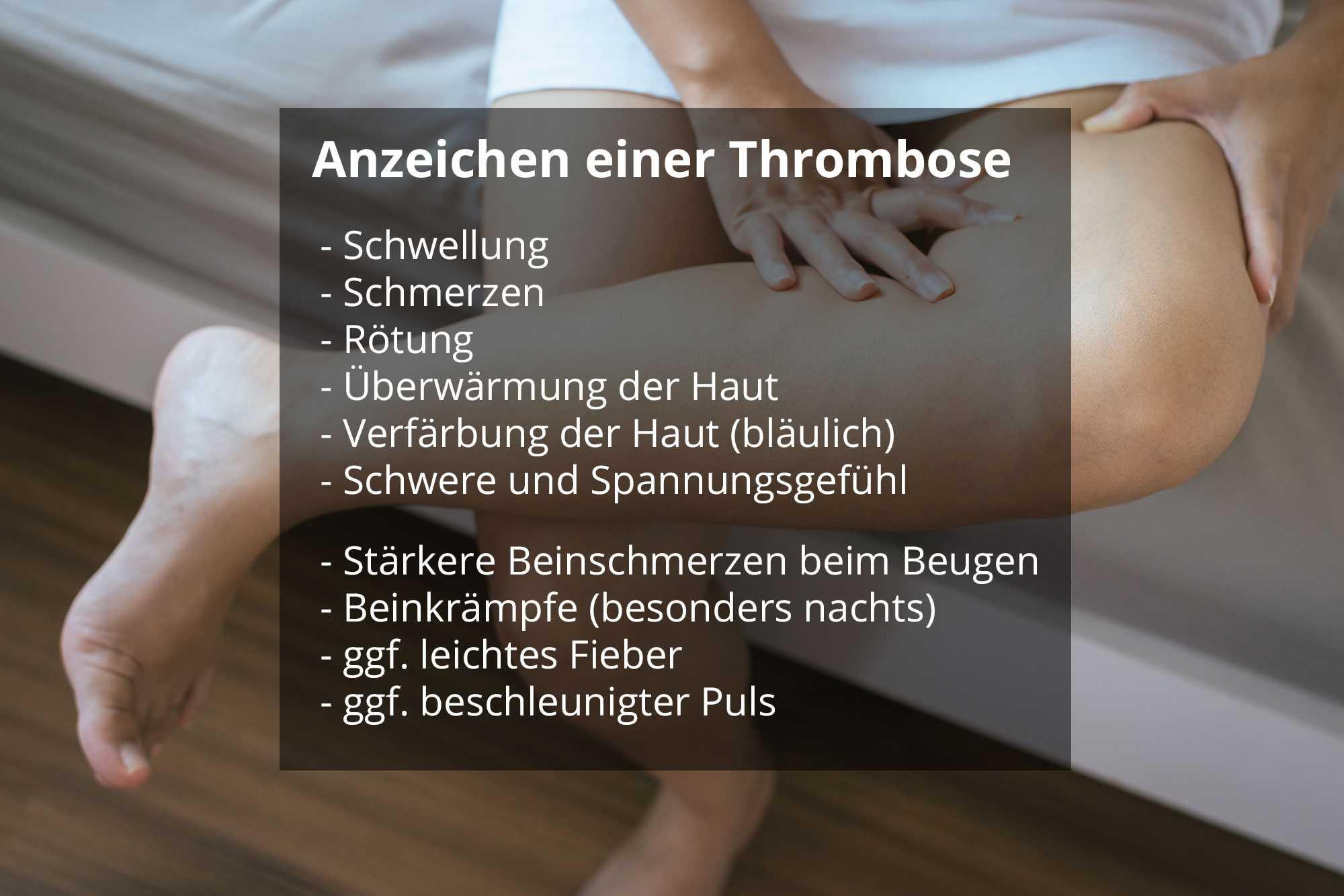 Angst vor erneuter thrombose