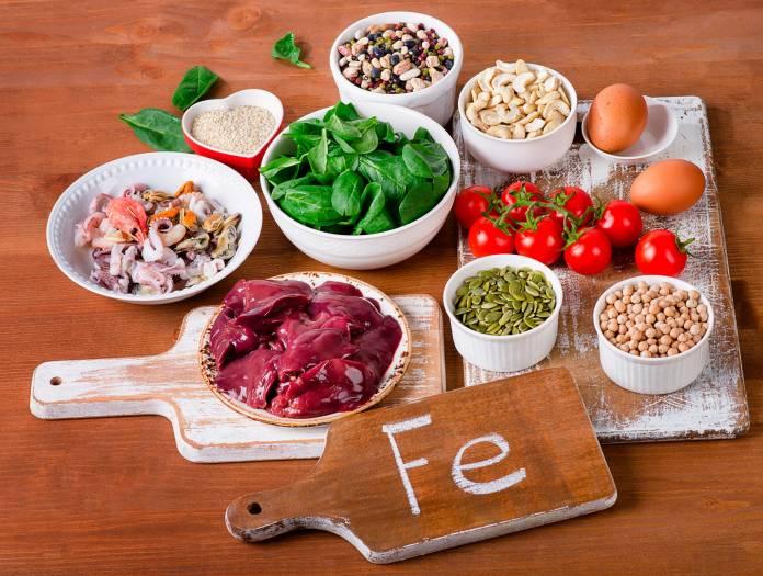 Пища с высоким содержанием железа