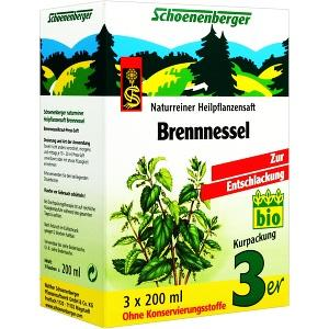 BRENNNESSELSAFT SCHOENENBERGER, 3X200 ML