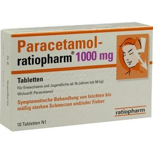 Paracetamol-ratiopharm 1000 mg Tabletten, 10 ST